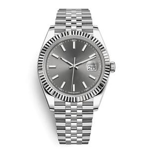 Автоматические 2813 Механические часы Мужчины DateJust 41 мм из нержавеющей стали Сапфировый стекло сплошной застежкой президент Мужская серая наручные часы мужчины