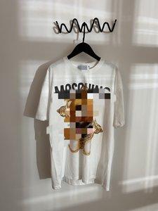 marche 2020 Moda Uomo design di lusso vestiti donne della maglietta stampa sul petto Grande orso mens MOS cotone tshirt tee