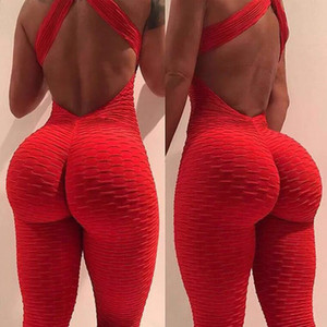 Women's Summer Yoga Leggings High Rise Hips Trousers HalterSexy Tights Workout Push Up Fitness Butt Lift Sports Set