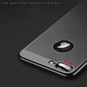 Für IPhone X 6 6S Plus7 5 5S SE 8 Plus Hülle Ultra Slim Grid Wärmeableitung Hülle Hart PC Schutzhülle