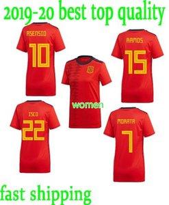 mejor calidad en la acción taza Mujeres jerseys Mundial de Fútbol Jersey España Inicio 19 20 camisa del fútbol del hogar de Lady España rojo de la camisa de fútbol Mujeres Footbal