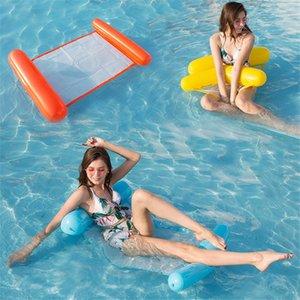 Moda inflável flutuante água Hammock Salão cadeira cama Verão Kickboards Piscina Float Piscina inflável Bed Praia Jogando Ferramenta