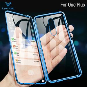 360 Full Body Protectiion Magnetic Адсорбция Двухсторонний Tempared стекла телефон металла CasesCover Для OnePlus 7 про 5Т 6 6T Shell