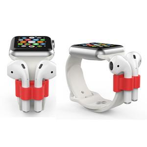 Para AirPod Pro titular de la banda de reloj portátil Anti-Perdida de silicona reloj de la correa de soporte para Apple Airpods Accesorios