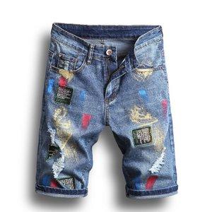 Mens Denim-Jeans-heißen Verkauf-Art- Gewaschene Stickerei-Abzeichen Gerade Art und Weise Jeans plus Größe beiläufige Art