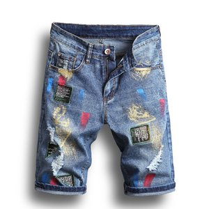 Mens Denim Jeans Hot Venda Moda Lavados bordados broche retas Jeans Moda Plus Size Estilo Casual