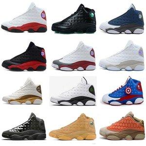 NOUVEAU 13 13s mens basket barons holographiques d'air Chaussures Royal Ivory Amour Respect blanc J13 rétro femmes sneakers concepteur Taille US 5,5 à 13