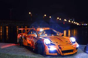 20001 Porsche 911 GT3 DIY Led Işık Uyumlu IEGOset 42056 Teknik MOC yarış Araba Yapı Taşları Oyuncaklar Yılbaşı Için Set hediyeler