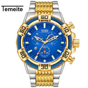 Men Watch Temeite Quartz Analog Creative Big Watches Business Men Waterproof Military Wristwatches Male Clock Relogio Masculino