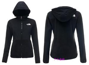 Высокое качество зима женщины флис толстовки куртки кемпинг ветрозащитный лыжный теплый вниз пальто открытый повседневная с капюшоном SoftShell спортивная одежда черный S-XXL
