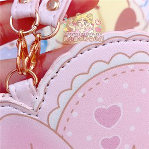 1pc Lovely Cartoon Melody Pu Leather ID Credit Bank Card Holder Students Bus Card Case Lanyard Male Door Identity Cards Cover
