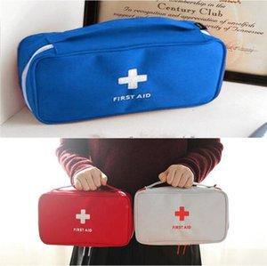 응급 처치 키트 휴대용 가정 의학 스토리지 가방을 홈 오피스 생존 의료 파우치 가방 야외 여행 긴급 구조 상자 가방 비우기