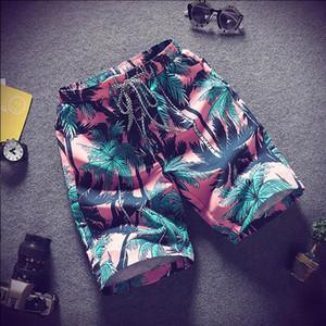Summer Casual Шорты Мужские брюки Мужской Камуфляж Мода Цветы Печать Straight Короткие Бич Mens Короткие бесплатную доставку