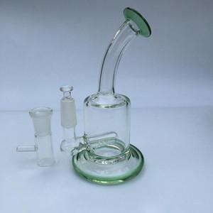 Bongo de vidro Reciclador de Petróleo Rig Wax Cachimbo De Água Heady Bongs Dab ferramenta tubos com tigela ou quartzo banger bubbler cer copo de óleo