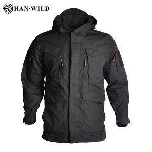 2020 Brasão M65 Tactical Jackets Windbreaker Caminhadas Camping Jackets Hoodie Outdoor Sports Jackets Men Multi-bolso à prova d'água