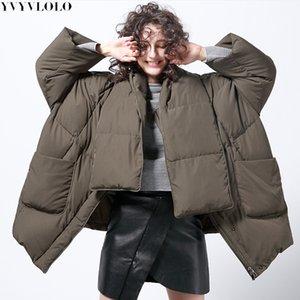 Yvyvlolo chaqueta de invierno mujeres 2019 original parka abrigo mujer moda bufanda collar cálido espeso invierno parkas hembra plus size abrigos