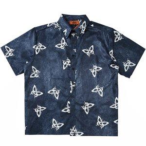2020 Hip Hop Streetwear Shirt imprimé papillon Hommes en vrac Chemise hawaïenne Oversize Harajuku Summer Beach Chemise à manches courtes Hawaï