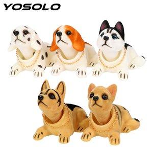 YOSOLO Bobble Head dell'automobile della bambola ornamenti auto Shaking Toy testa Deodorante cruscotto Nodding Dog Accessori Interni