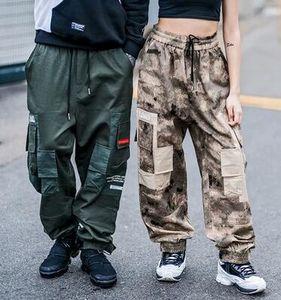Harem Joggers Couleur Patchwork 2018 Hip Hop Cargo Pants Hommes Femmes Casual Streetwear Planche À Roulettes Vêtements