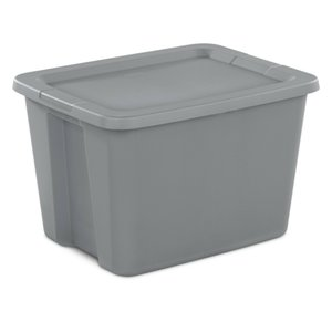 Lid PLASTIC Bin CONTAINERS Box Gallon Tote Stackable 8 STORAGE With Sterilite 18 Njals