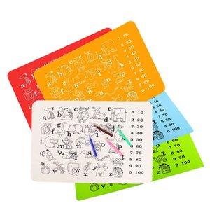 Los niños de silicona estera educativa del puño y letra del alfabeto lugar colorida alfombra de la almohadilla animales Tamaño 30 * 40 cm multiuso estera de tabla LJJA4057