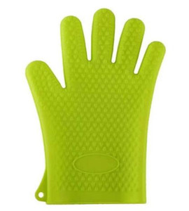Kitchen Heat Gloves Holder 5 Fingers Non-slip Barbecue Oven Mitts Resistant Gloves Pot Kitchen Tools BBQ Grilling Cooking Insulation Cook