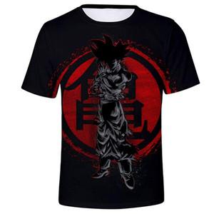 Dragon Ball Z Goku Schwarz Vegeta 3D-T-Shirt Mann-Sommer-Anime-T-Shirt O-Ansatz T-Shirt beiläufige Marken Dragon Ball Spitzen T Größe S-2XL