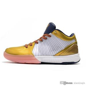 Les nouveaux hommes KB4 4 IV Bryants protro chaussures de basket-ball ZK4 retro de 4s olympique en or blanc Black Mamba Oreo tennis avec la taille de la boîte 7 12