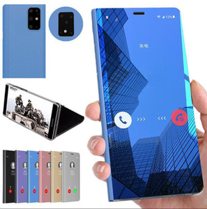 Plating Smart Mirror Phone Case For Samsung Galaxy Note 10 Plus S10 Plus S9 A10 A10S A20S A20E A30S A40 A50 A50S A70 Clear View Flip Cover