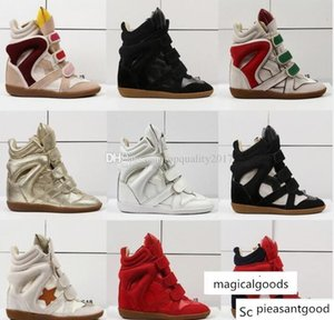 s Isabel Suede Bekett Wedge Sneakers Marant High Top Genuine Leather Casual Sports Ankle Boots