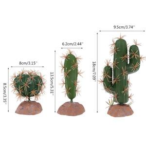 Reptiles Habitat plastique vert Terrarium Plantons pour Amphibiens Accueil ornement de jardin