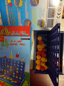 Bambini Learning educativi Giocattolo dei bambini Bingo gioco quattro Quadrupla blu verticale di collegamento Scacchi pedine 15 pc all'ingrosso