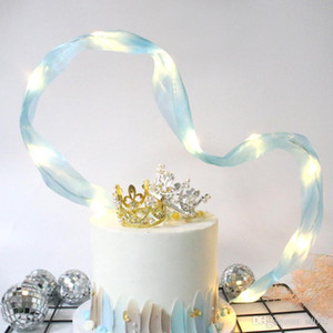 Baking Cake Insert Ribbon Lamp Beads Flag Creativo fatto a mano Festa di compleanno Matrimonio Decorare Supplies More Color Fashion 3 6cdC1