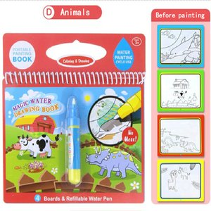 8 styles Magic Water Drawing Book Coloring Doodle & Magic Pen Drawing Toys early education For Kids Birthday Gift. free shopping DHL