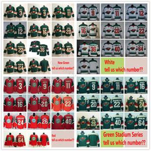 Wild du Minnesota Hockey Jerseys Mats Zuccarello Zach Parise Eric Staal Mikko Koivu Jason Zucker Nino Niederreiter Mikael Granlund Devan Dubnyk
