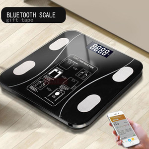 AIWILL Household LED Digital Weight Bathroom Balance Bluetooth Android or IOS Body Fat Scale Floor Scientific Smart Electronic Y200106