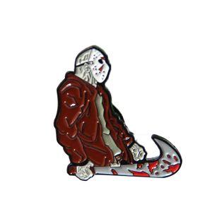 12pcs viernes que el esmalte broche broches de los pernos pernos de la solapa mochila bolsa de regalo Decoración insignia de tela 13 Jason Voorhees para las mujeres