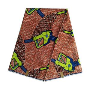 Kumaş blok mumda Hollanda Basım gerçek pamuk Afrika balmumu Ankara% 100 pamuk 6yards Afrika kadın V-656 için sıcak satış