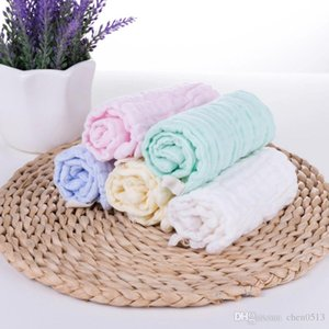 Baby Candy Color 6 Layer Washed Gauze Small Square Children's wear Baby Handkerchief Washing Face 30*30cm