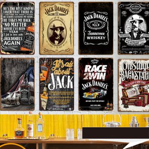 40 стилей жестяных знаков Вина Джек Виски Урожай стена искусство ретро TIN SIGN Старые стены металл Живопись ART Бар Паб Ресторан Домашнего украшение