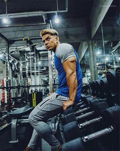 체육관 연필 바지 패션 보이지 않는 지퍼 남성 졸라 매는 끈 레깅스 스웨트 팬츠 남성 디자이너 조깅 바지 캐주얼 스포츠