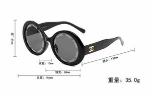 1pcs Moda Occhiali da sole rotondi Occhiali da sole Occhiali da sole Marchio nero Montatura in metallo Scuro 50mm Lenti in vetro da uomo Womens Marrone Migliori Custodie