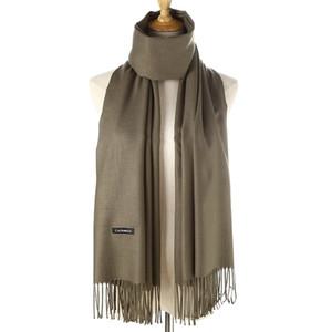 Imitation Kaschmir-Schal Pull Farbe dicker langer Schal Herbst und Winter Kaschmir mit Fransen Schal weibliche koreanische Version gefaltet 35cm