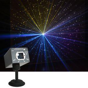 Sharelife Mini'nin 500mW DJ RGB Meteor Fırtına Lazer Projektör Işık DMX DJ Ev Partisi göster Gig Sahne Aydınlatma pırıltı Yıldız Etkisi