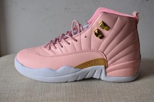 رخيصة بالجملة 12 GS الوردي عصير الليمون النسائية أحذية كرة السلة 12S الوردي عصير الليمون حذاء رياضة للبيع لنا 5.5-8.5 تأتي مع مربع