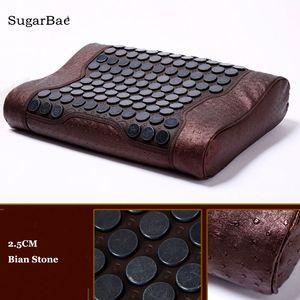 Массажер Bian камень подушка нефрит Германий камень массаж шеи подушка улучшить циркуляцию крови подушки тела для продажи