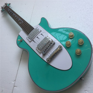 Бесплатная доставкаКитайские гитары Магазин / Confection Green / Красное тело / Палисандр Гриф / Corvette 1960 Электрогитара / Настраиваемые цвета