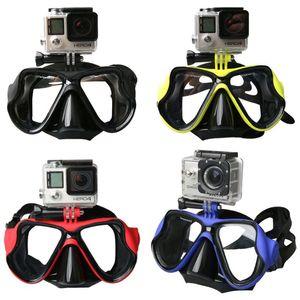 Scuba Diving Mask Occhiali da nuoto Nuoto Snorkeling Anti Fog rivestito in vetro temperato 100% a prova di perdite Design compatibile GoPro Hero Sport d'acqua
