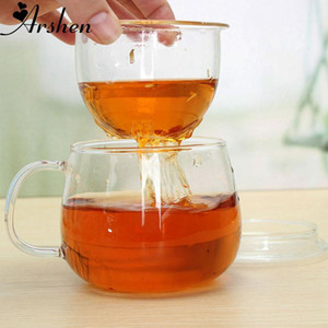 100% nova marca de alta qualidade Durable 3 em 1 Set 320ml Limpar resistente ao calor do chá do café Copo Com Chá Infuser Filtro Lid Use For Home Office