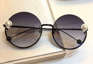 2183 Siyah Yuvarlak Güneş Gözlüğü Armut Gri Tonları ile Güneş Gözlükleri Kadınlar Lüks Tasarımcı Güneş Gözlüğü Shades Güneş Gözlükleri ile Yeni kutu